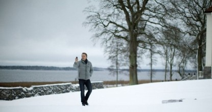 Дэниэл Крэйг на снежных полях Швеции